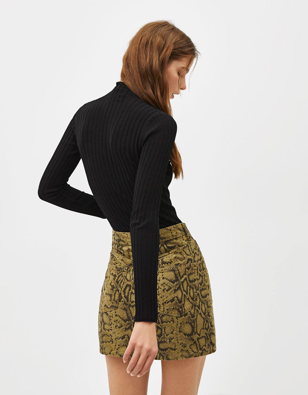 fd574473c61d Snakeskin print denim skirt - Sale Favourites - Bershka Malta