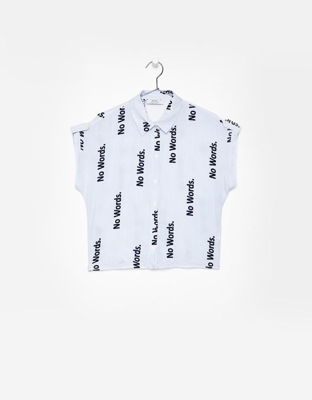 Bedrucktes Hemd mit Gürtelschlaufen