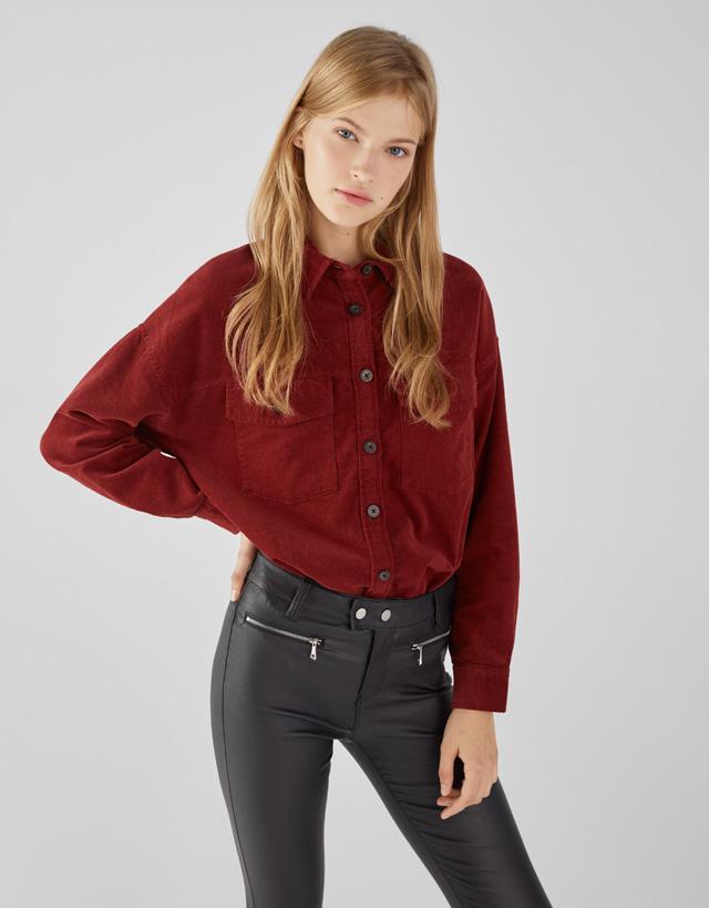 b38a3e1d390 Plain - Shirts - COLLECTION - WOMEN - Bershka Lithuania