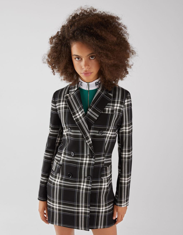 75ce1bef3cd Checked blazer dress - Dresses - Bershka Albania