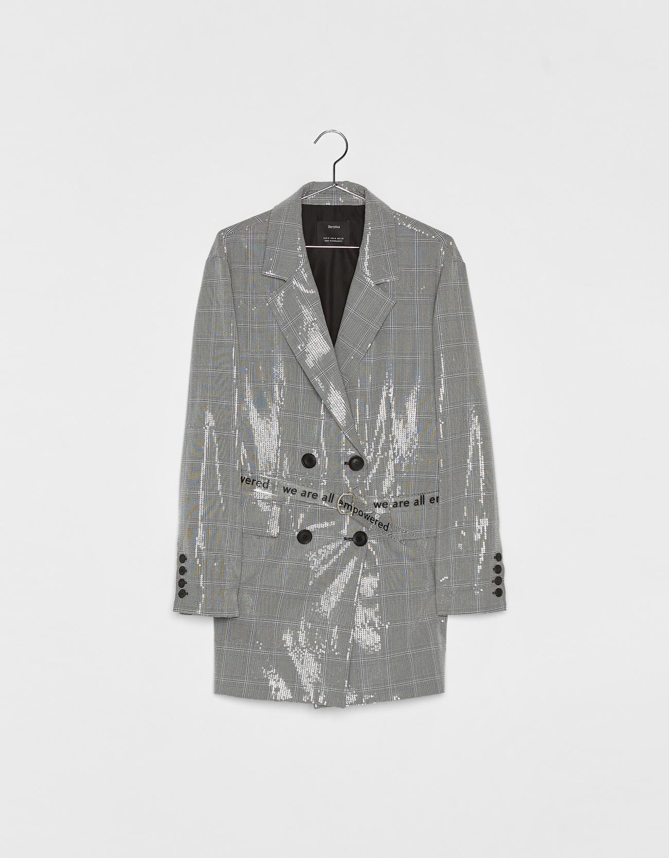 Robe veste tailleur à carreaux