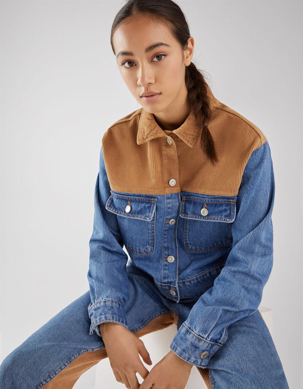 Rosa kleid jeansjacke