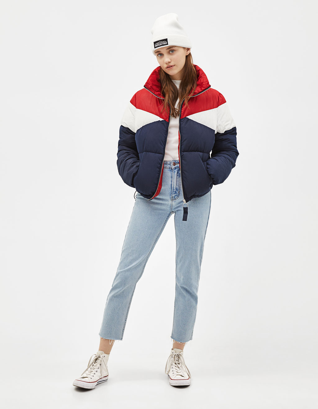 Color block puffer jacket
