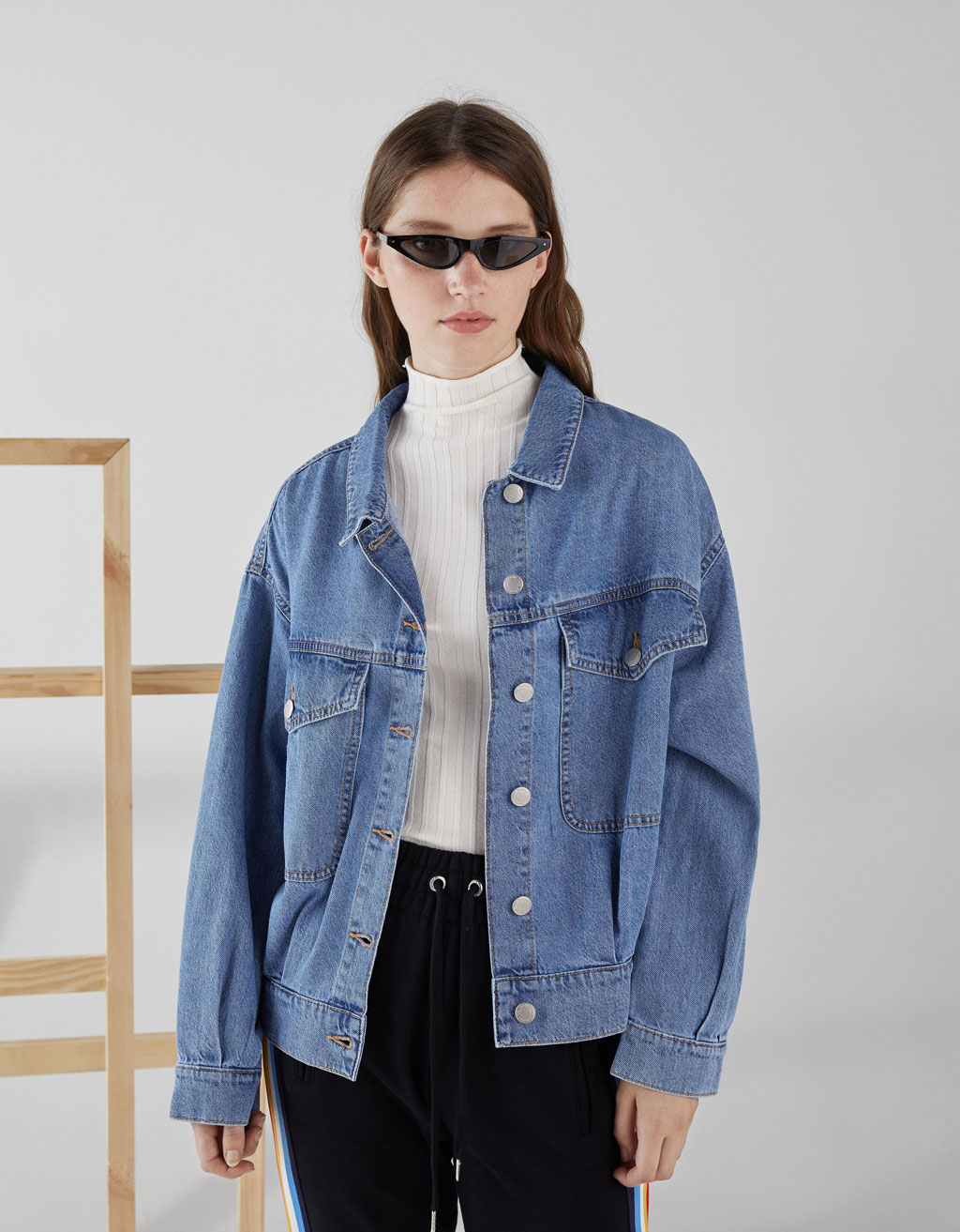 Cropped denim mont
