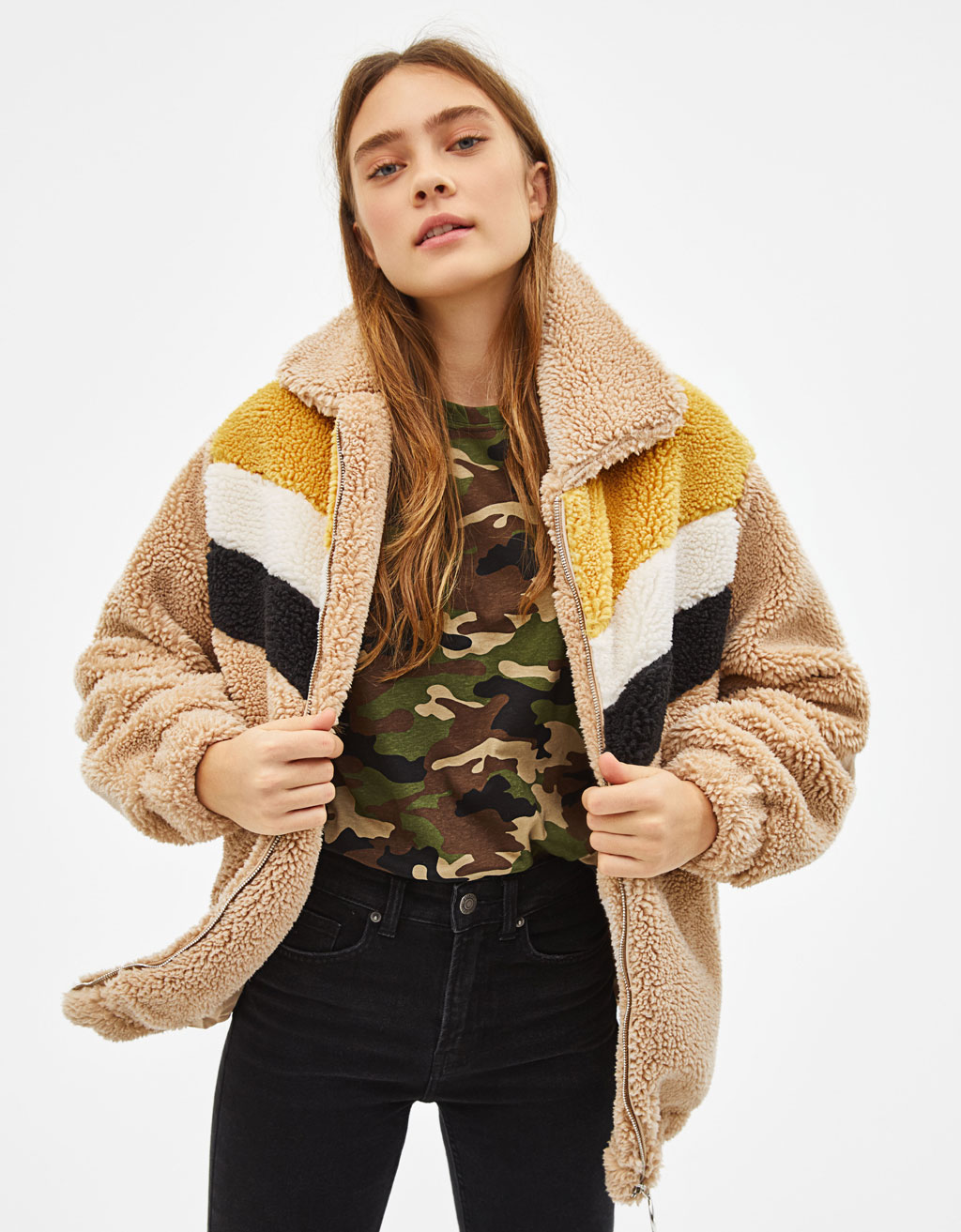 Oversize fleece jacket