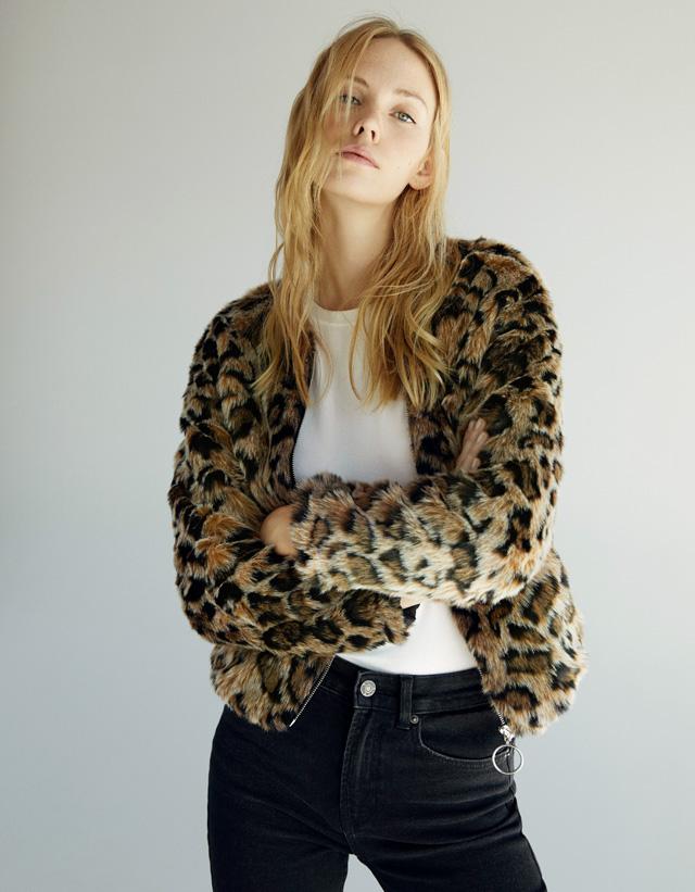 Jacke aus Kunstfell im Leopardenlook