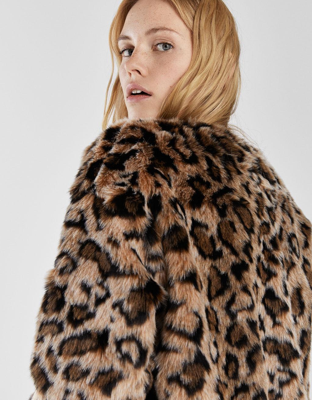 bcd6c8ba3 Leopard print faux fur jacket