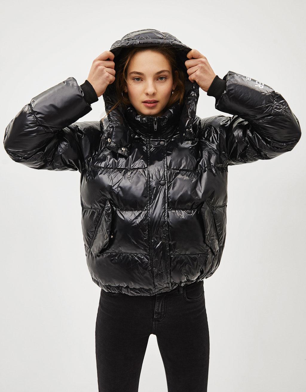 Nafúknutá bunda s kapucňou