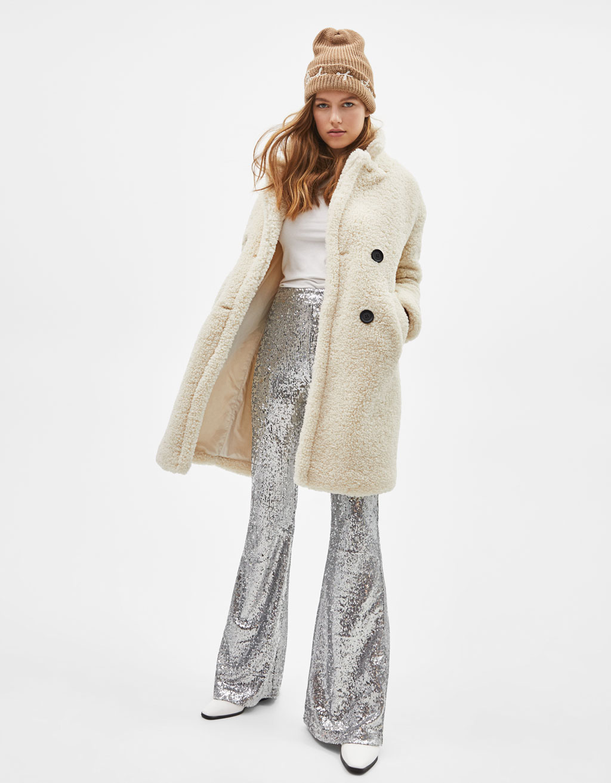 Caban long femme hiver