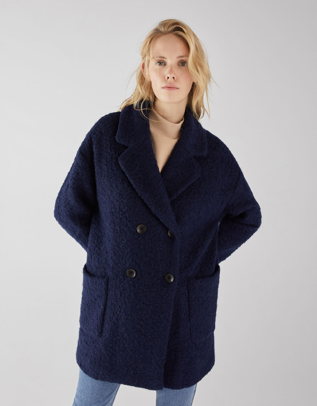Cappotto in lana bouclé