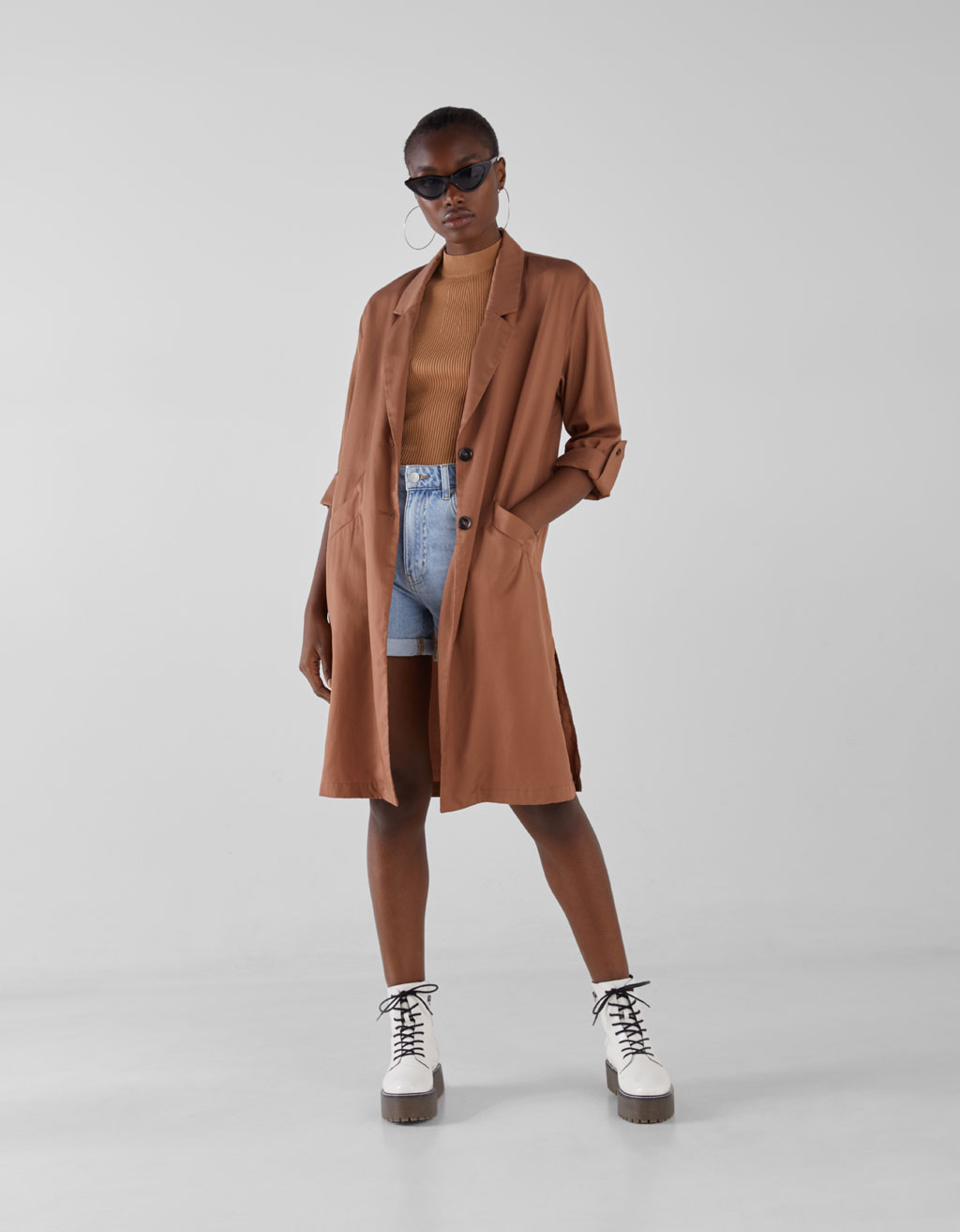Trench Tencel® Join Life by Bershka