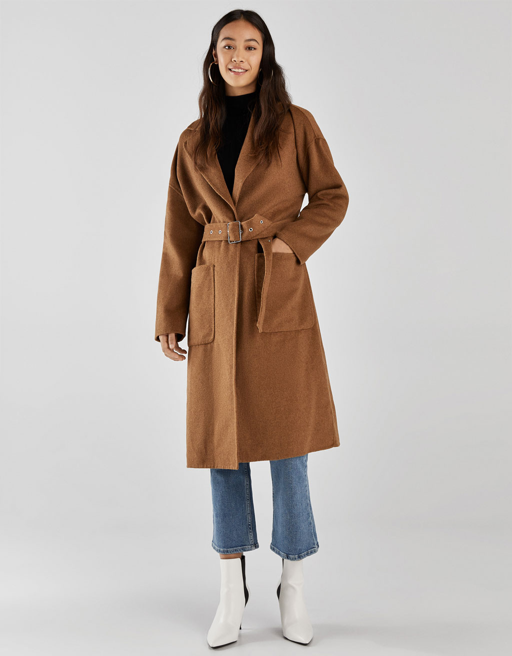 Long handmade wool coat