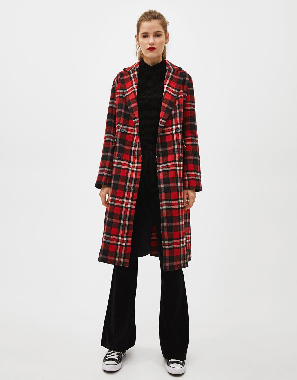 Manteau caban long femme noir