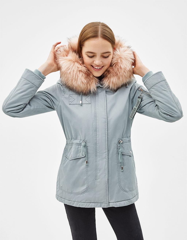 Manteau femme gris clair chine