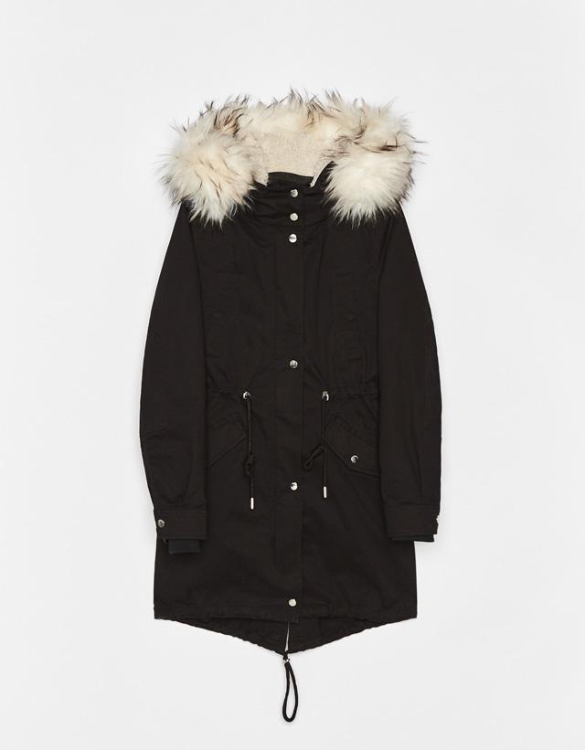 Mantel im Parka-Stil mit herausnehmbarem Futter