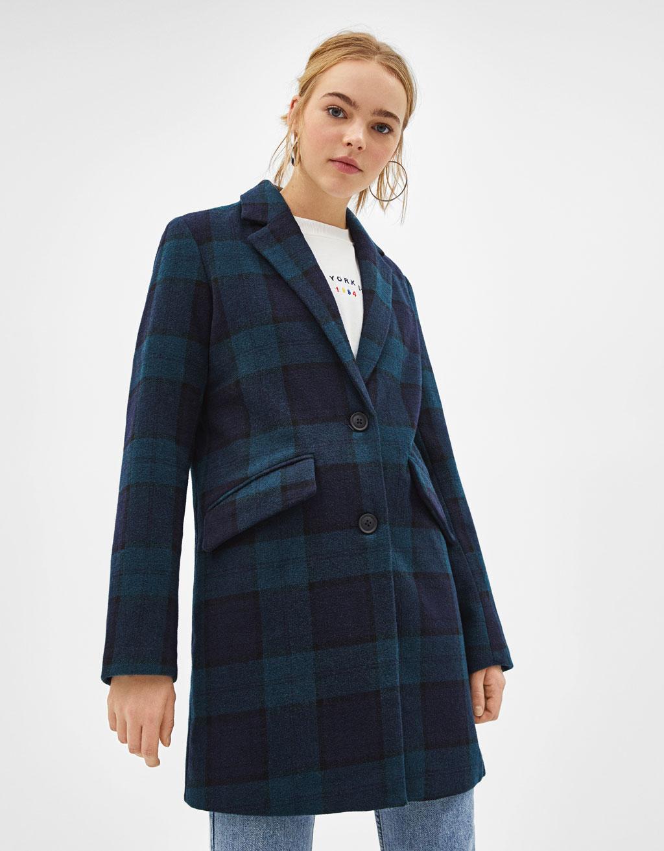 Abrigo de lana con corte recto