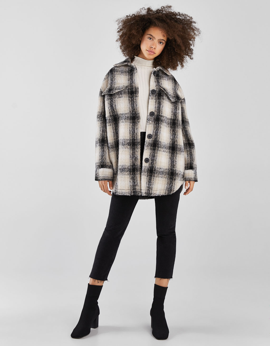 Faux wool overshirt