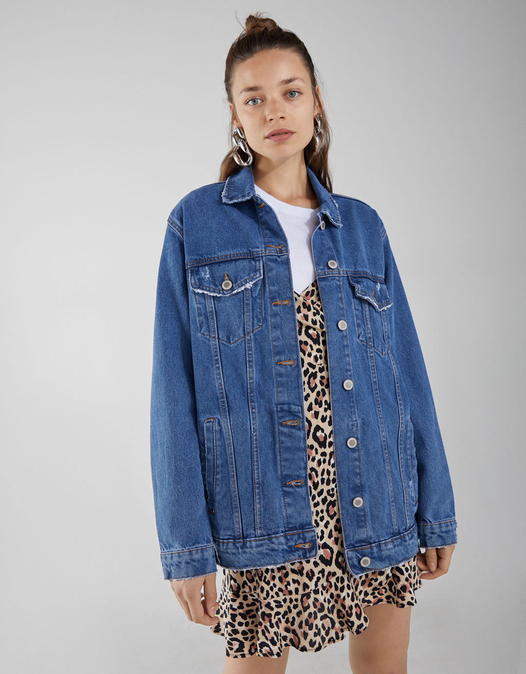 Oversized denim jack