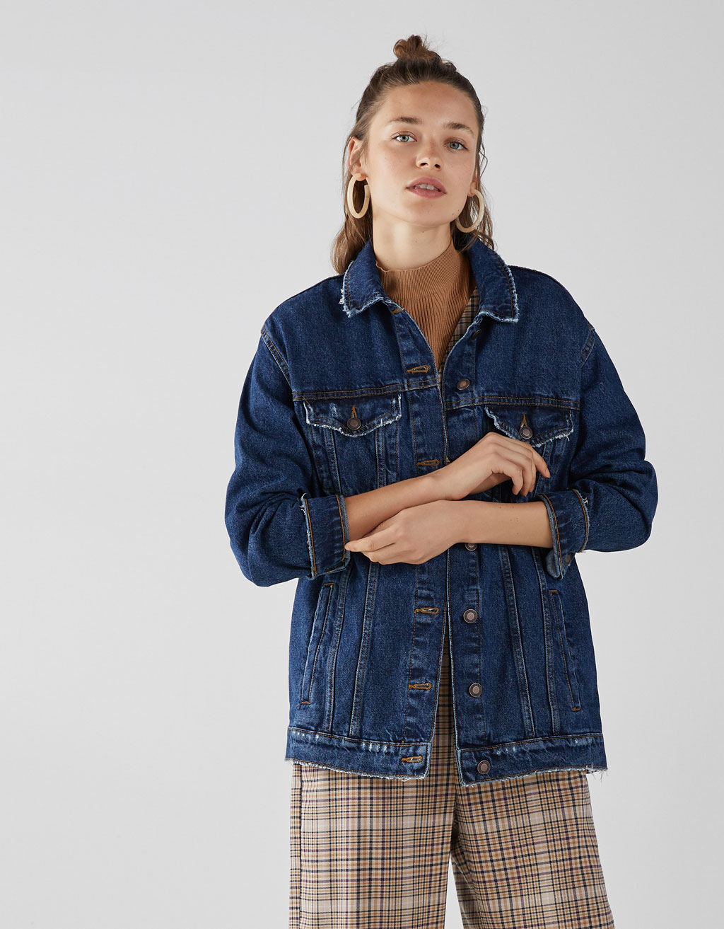 Oversize denim mont