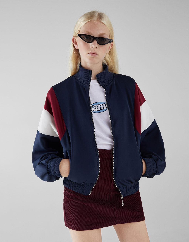Contrasting retro sport jacket