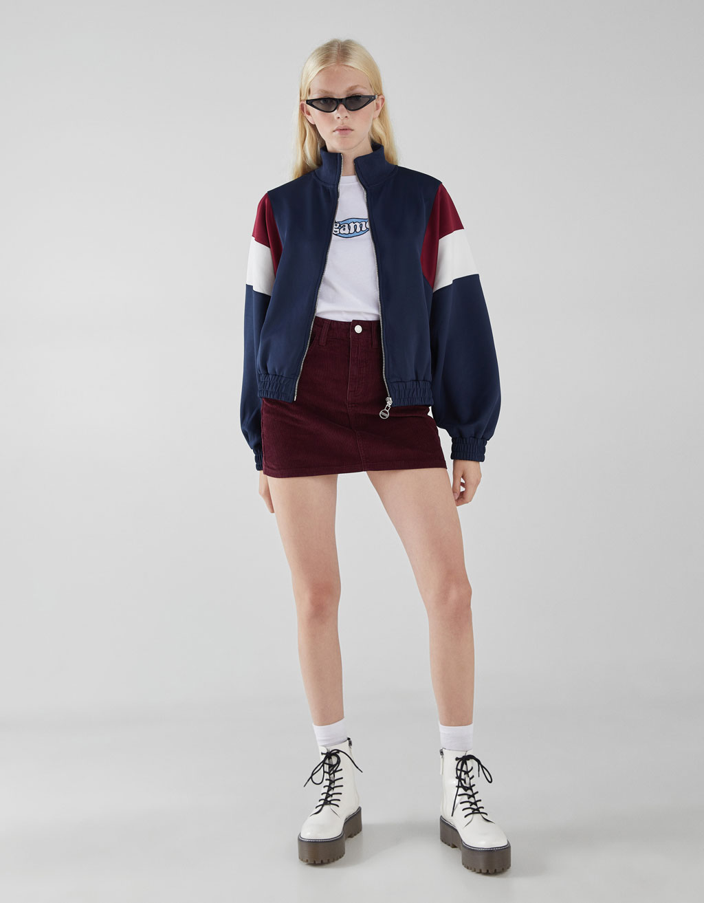 Contrast retro sports jacket