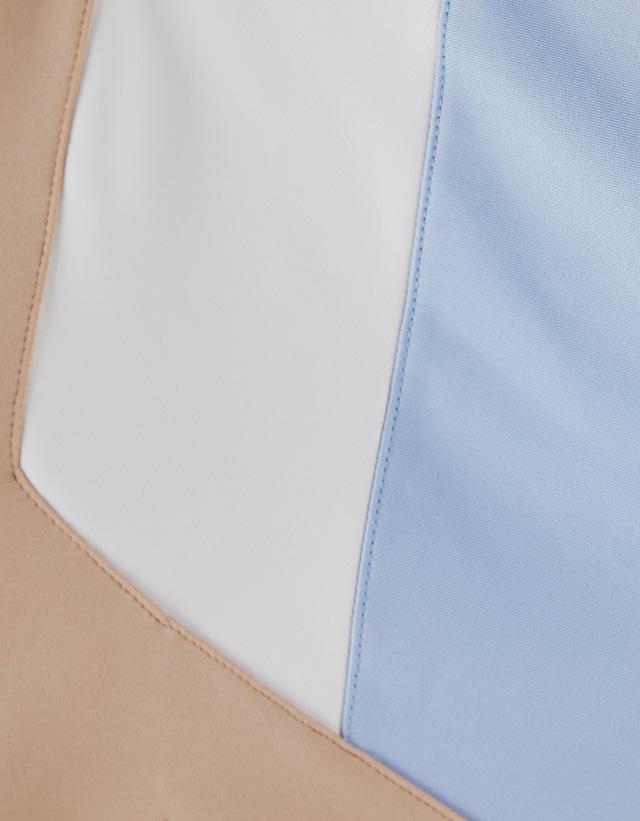 Sportliche, kombinierte Jacke im Retrolook