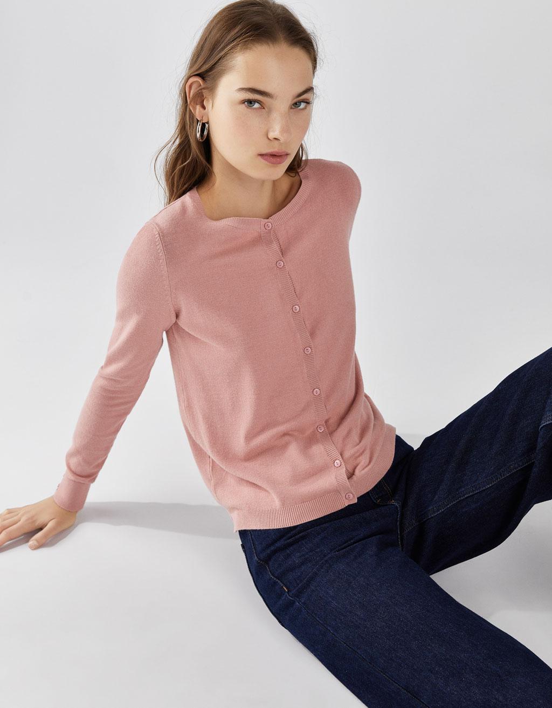 Trikotažinis užsagstomas megztinis