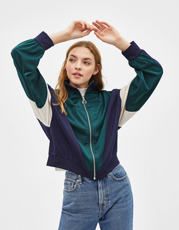 Colour block sporty jacket