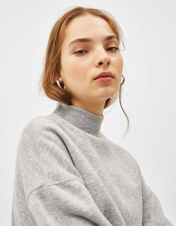 Sweatshirt gola alta
