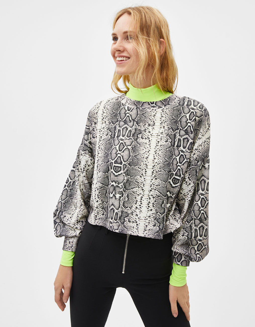 All-over print sweatshirt
