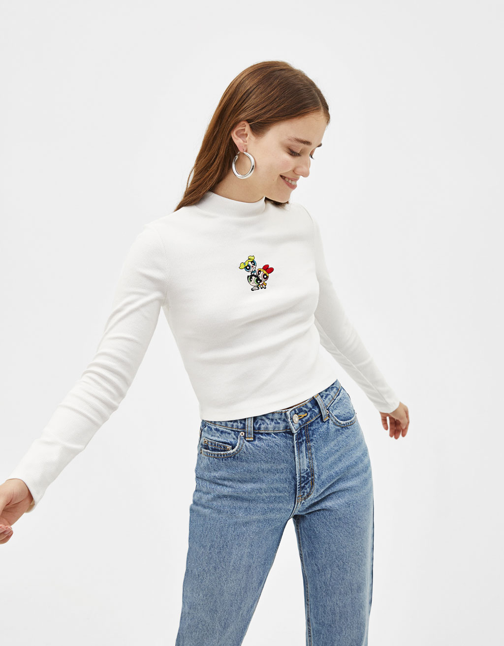 Sweater with Powerpuff Girls embroidery