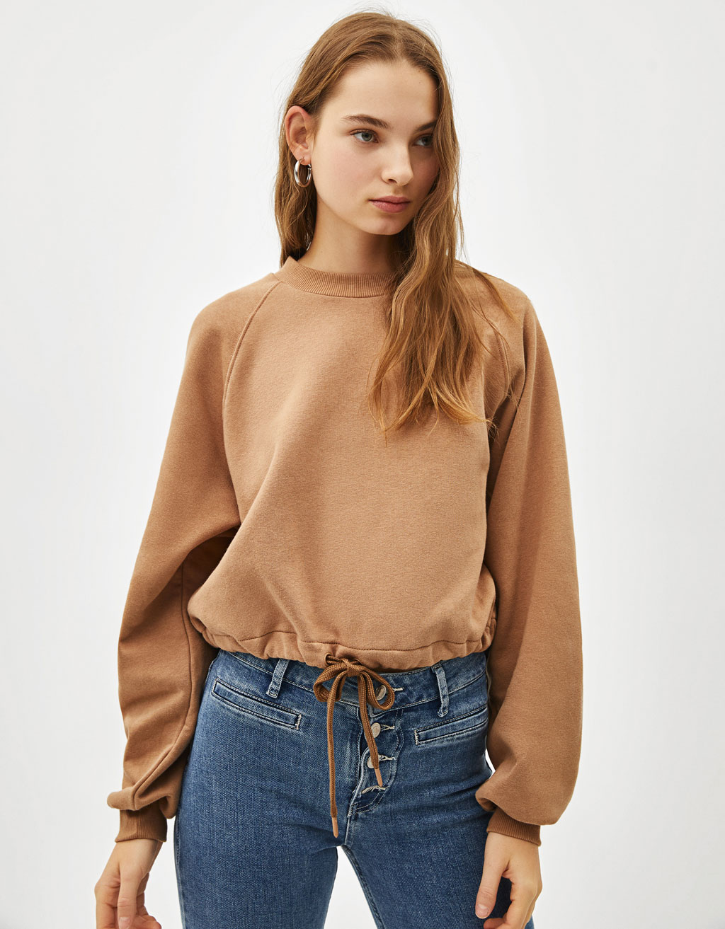 Gathered sweatshirt