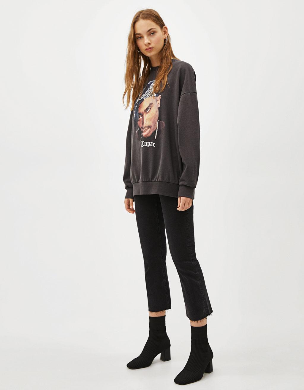 2 Pac Sweatshirt by Bershka