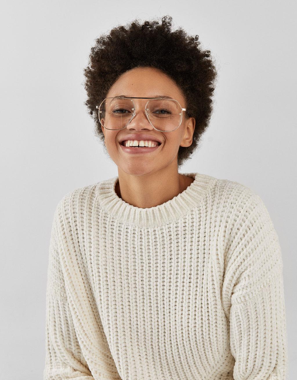 Šenila 'oversize' stila džemperis