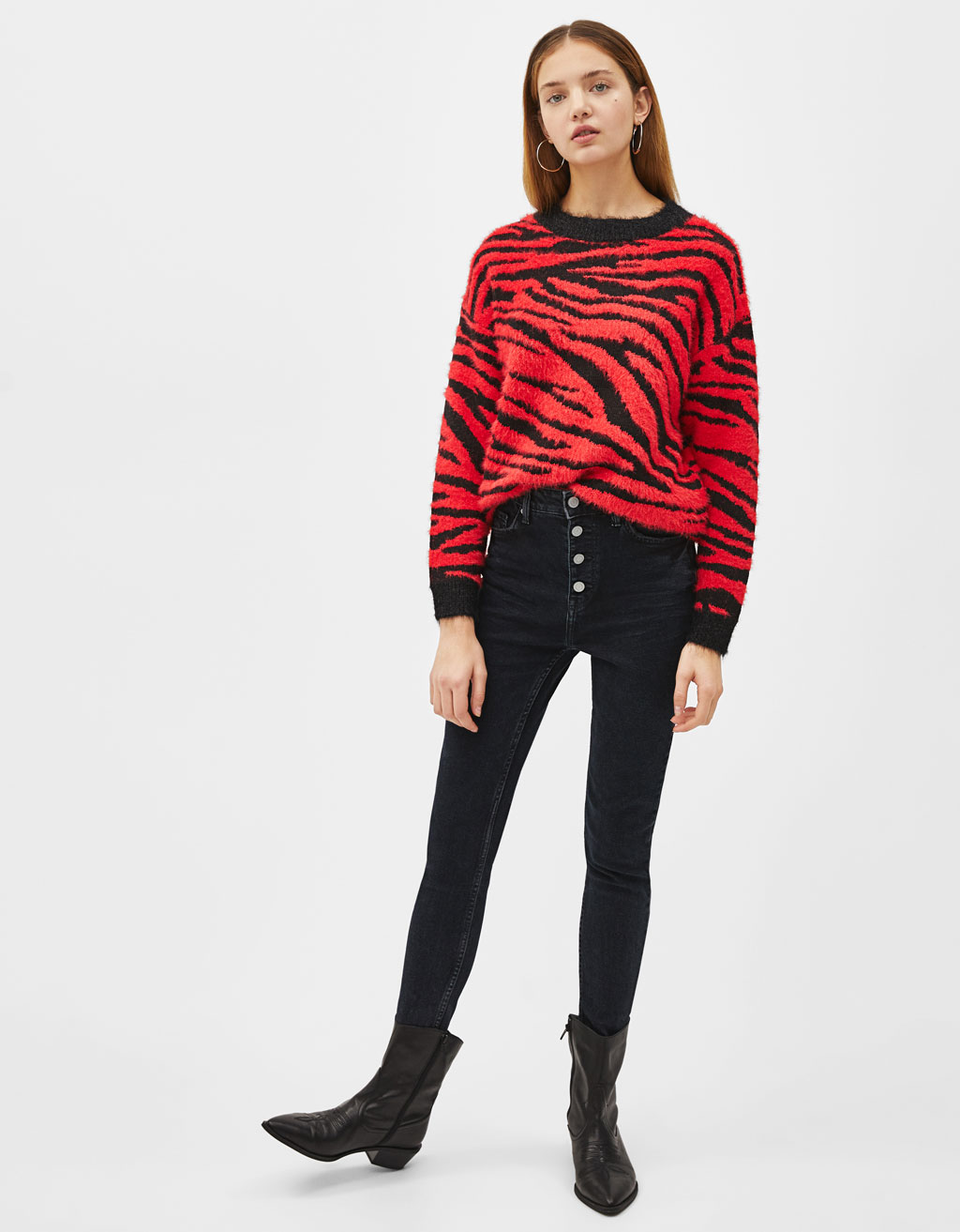 Sweater com estampado de zebra