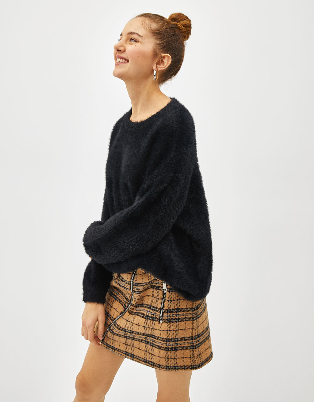 Oversized faux fur sweater