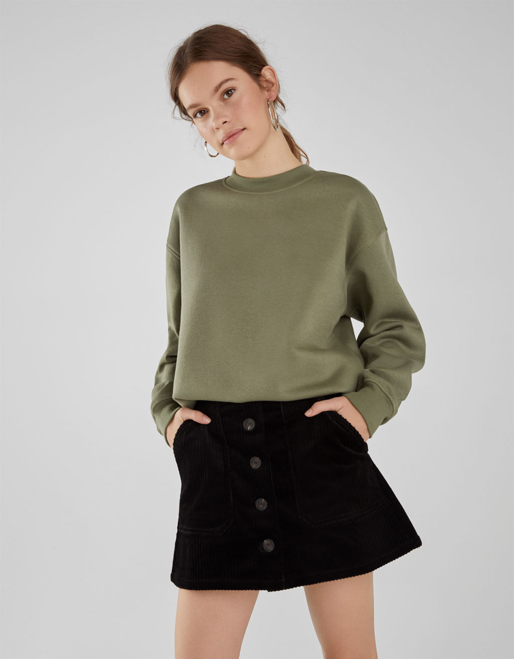 Round neck sweatshirt