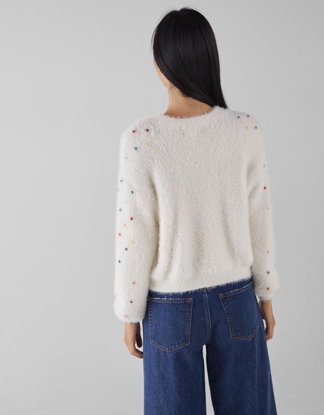 Pullover aus Kunstfell