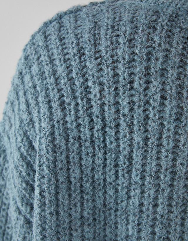 Rippenstrick-Pullover