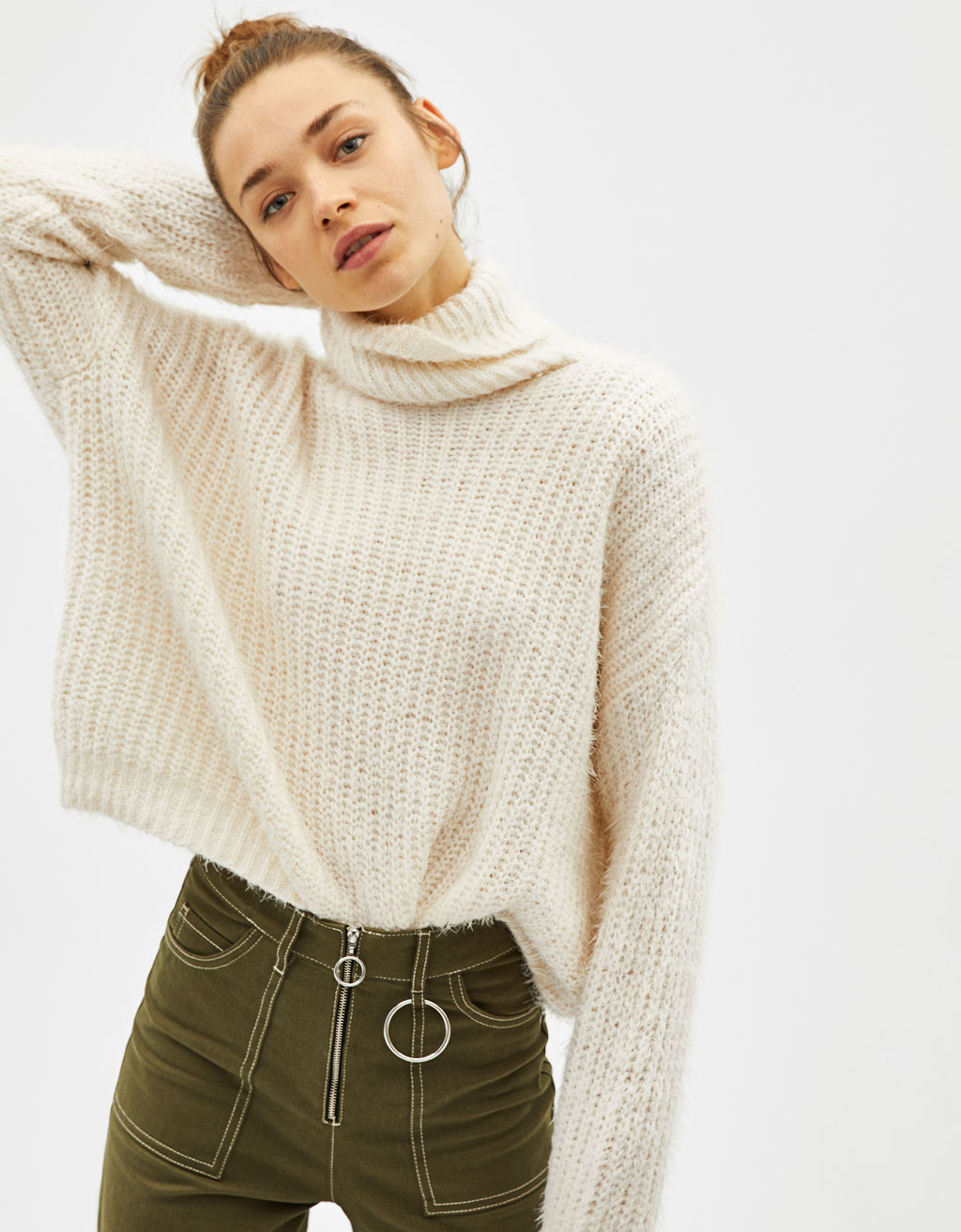 Pull Aspect Mohair Col Roulé by Bershka
