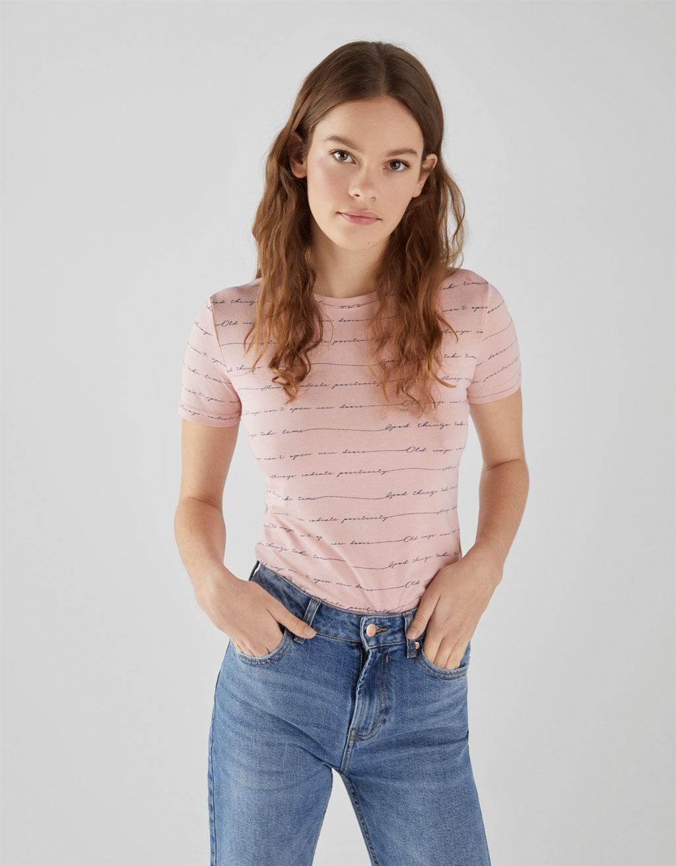T-shirt con collo rotondo