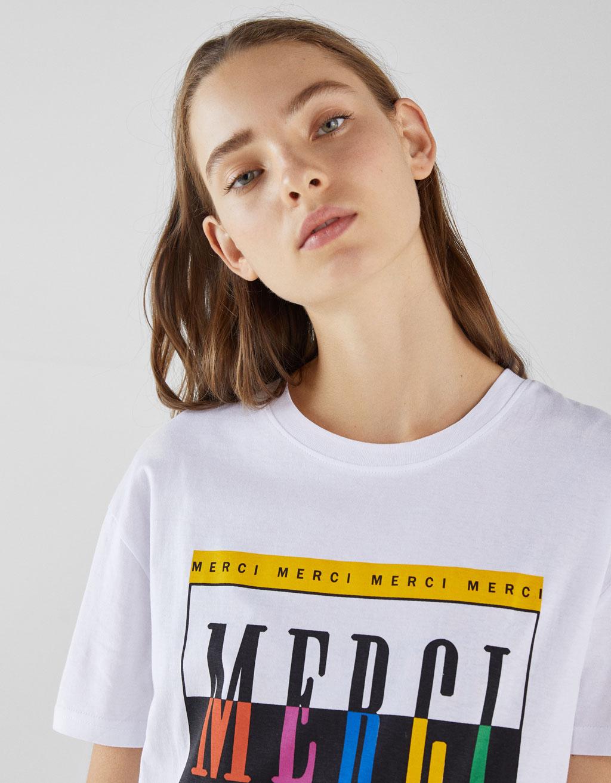 Raštuoti Marškinėliai by Bershka