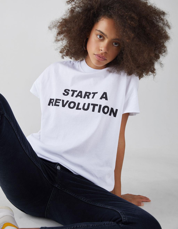 T Shirt Start Revolution by Bershka