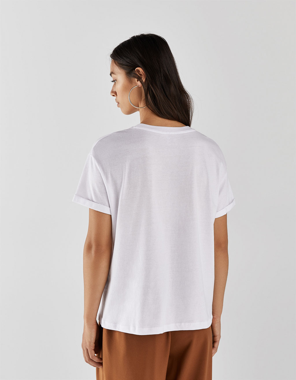 031292e2c11f98 T-shirt with print - CLOTHING - Bershka Greece