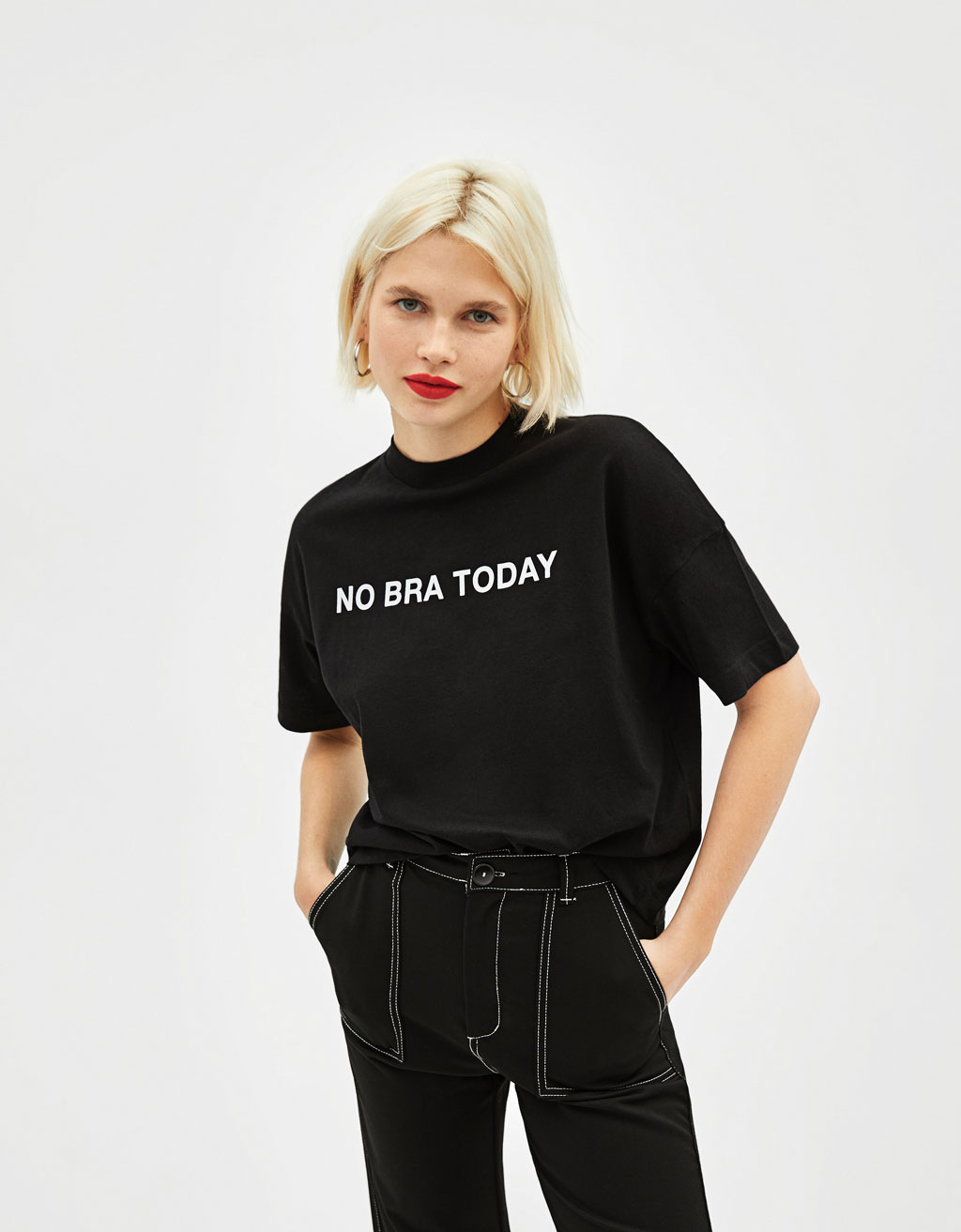 'No bra today' T-shirt