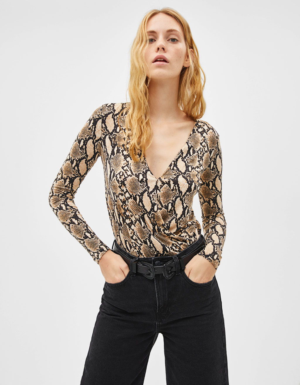Body Imprimé Serpent by Bershka