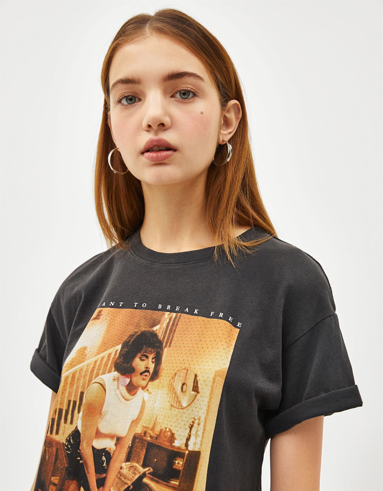 7e81f6591e9fd Bershka Camiseta Freddie Mercury a 12.99€