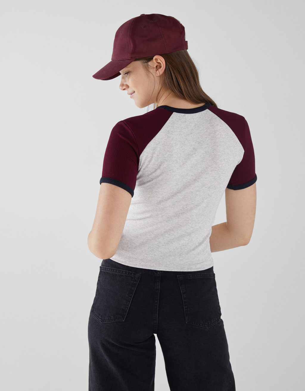 ec63470067 Ribbed T-shirt with embroidery