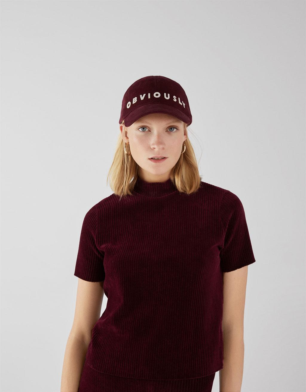 T-shirt en velours côtelé
