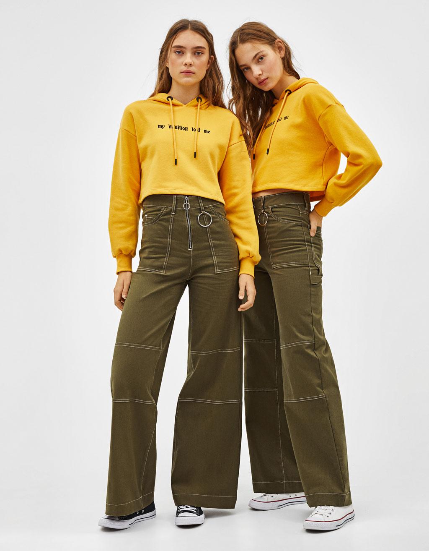Pantaloni largi utility